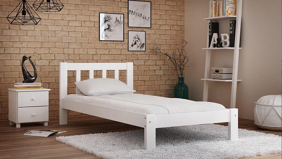 Łóżko sosnowe Ofelia 90x200 białe