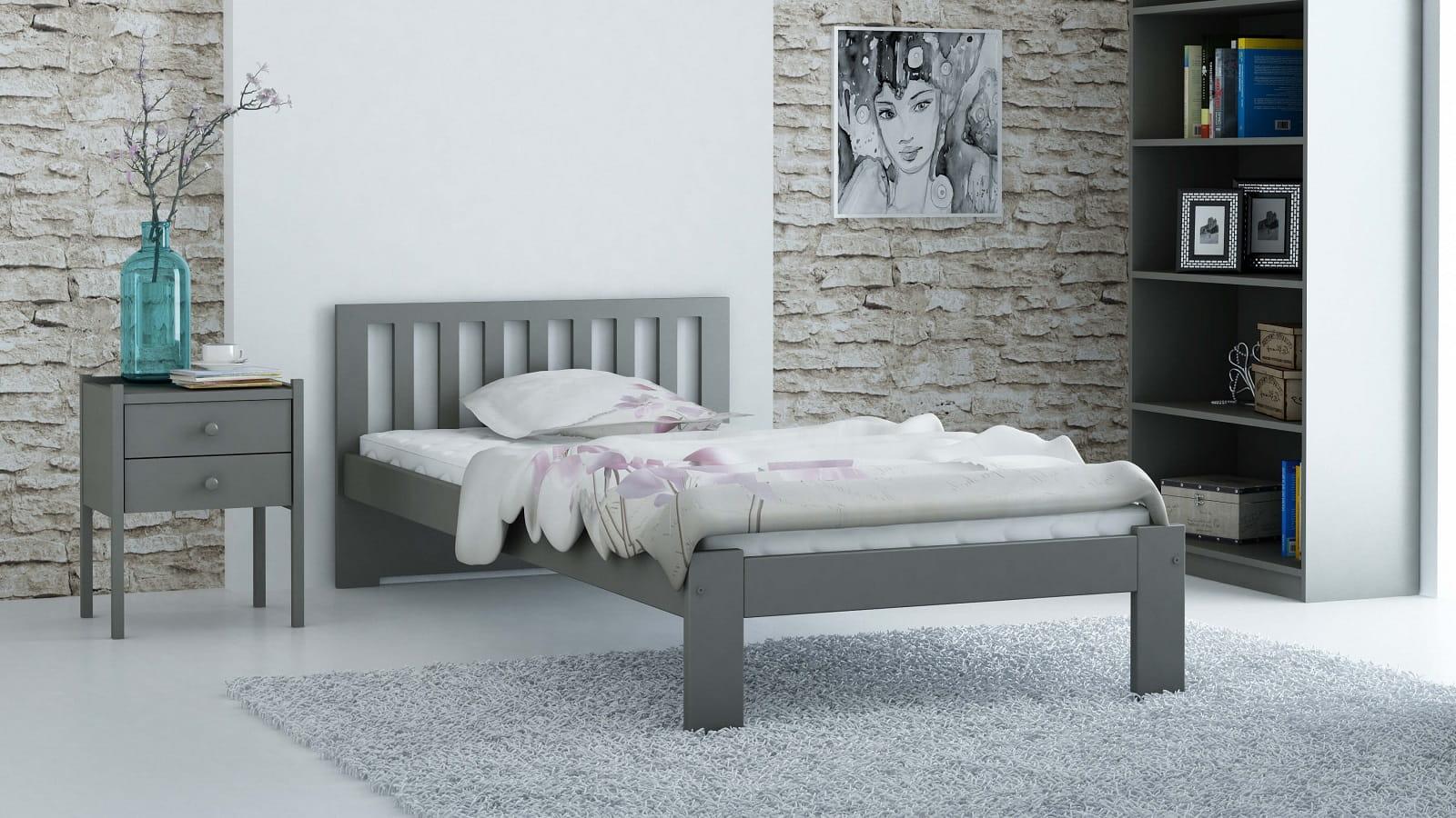 łóżko Dmd2 90x200 Szare