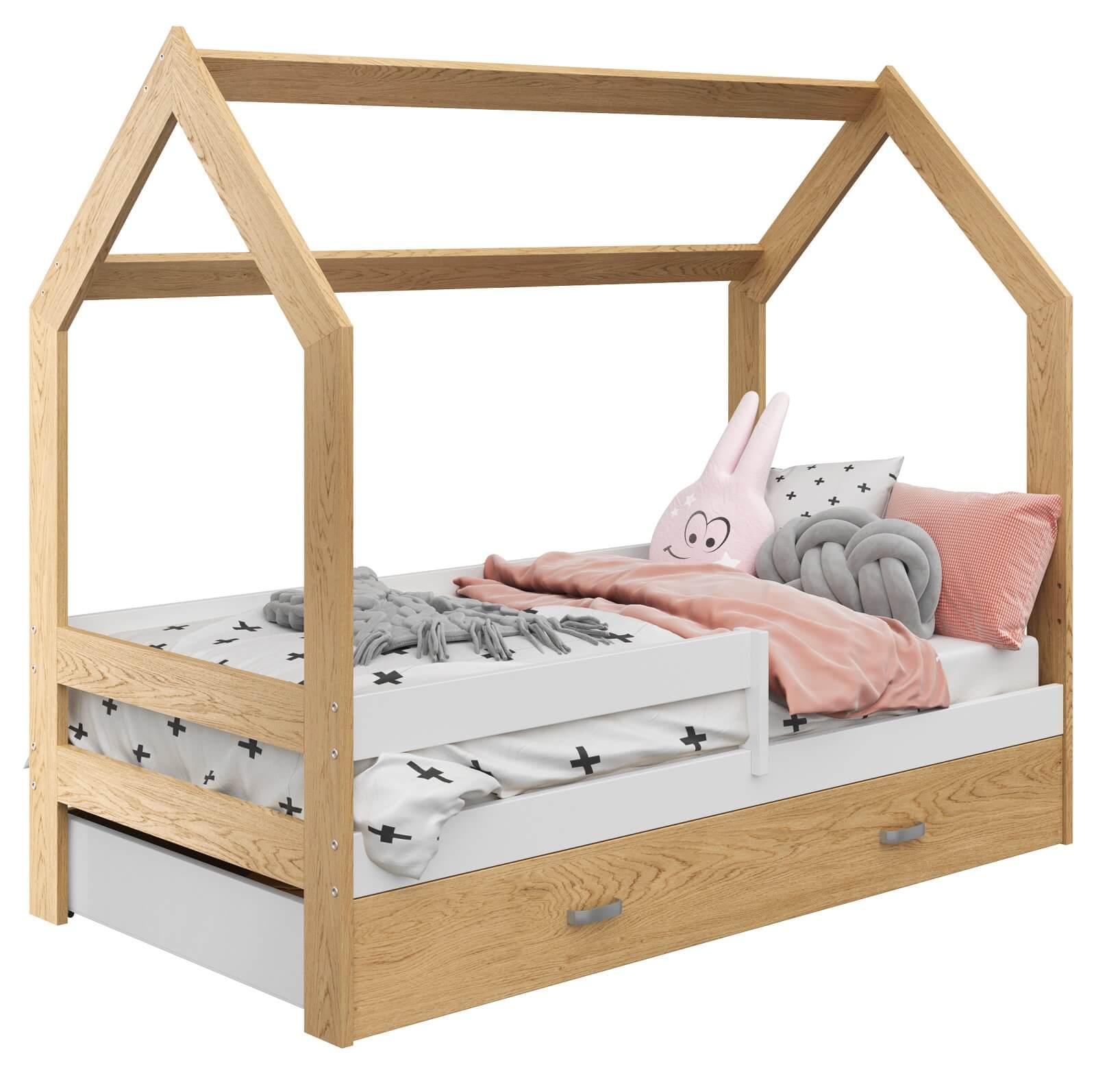 łóżko Domek Dziecięce 160x80 Dla Dzieci Sosna D3