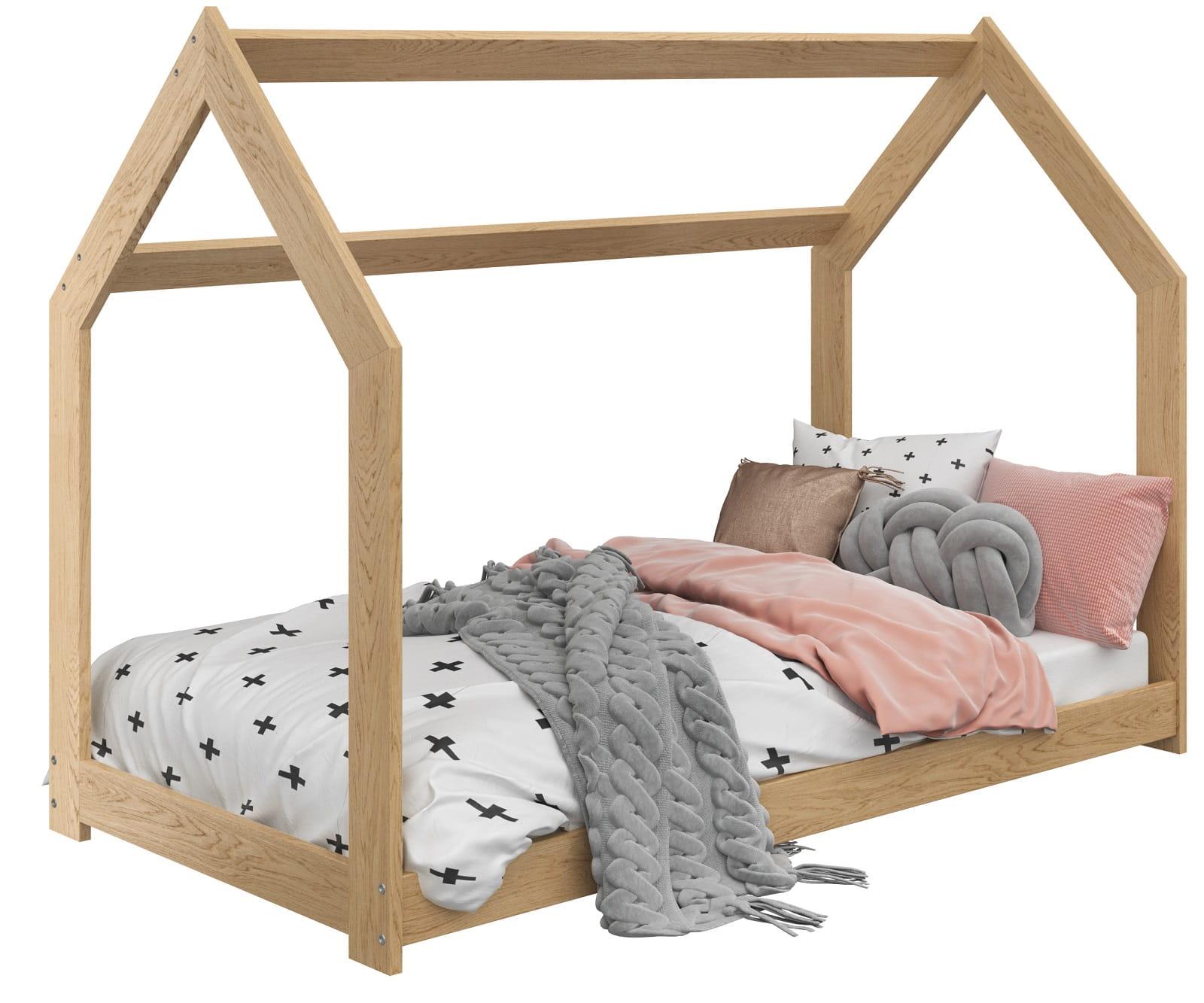łóżko Domek Dziecięce 160x80 Dla Dzieci Sosna D2