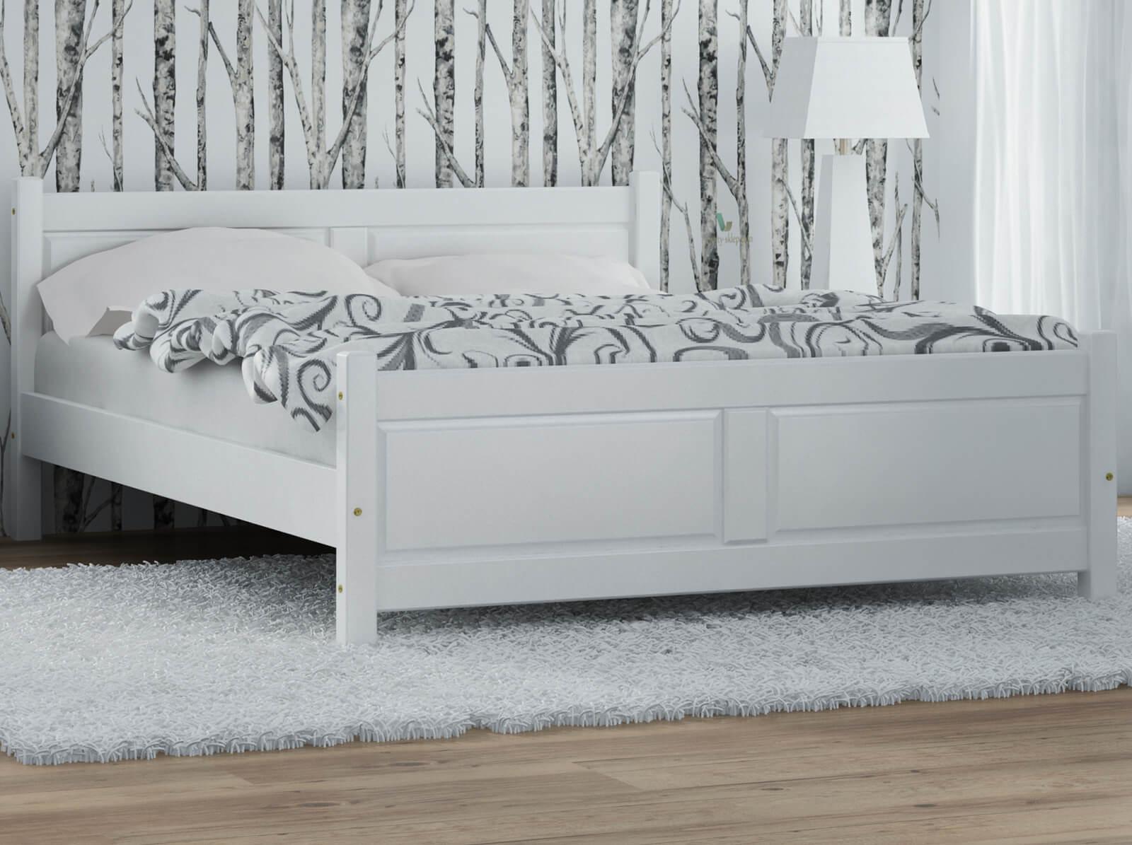 łóżko Drewniane Lena 180x200 Białe