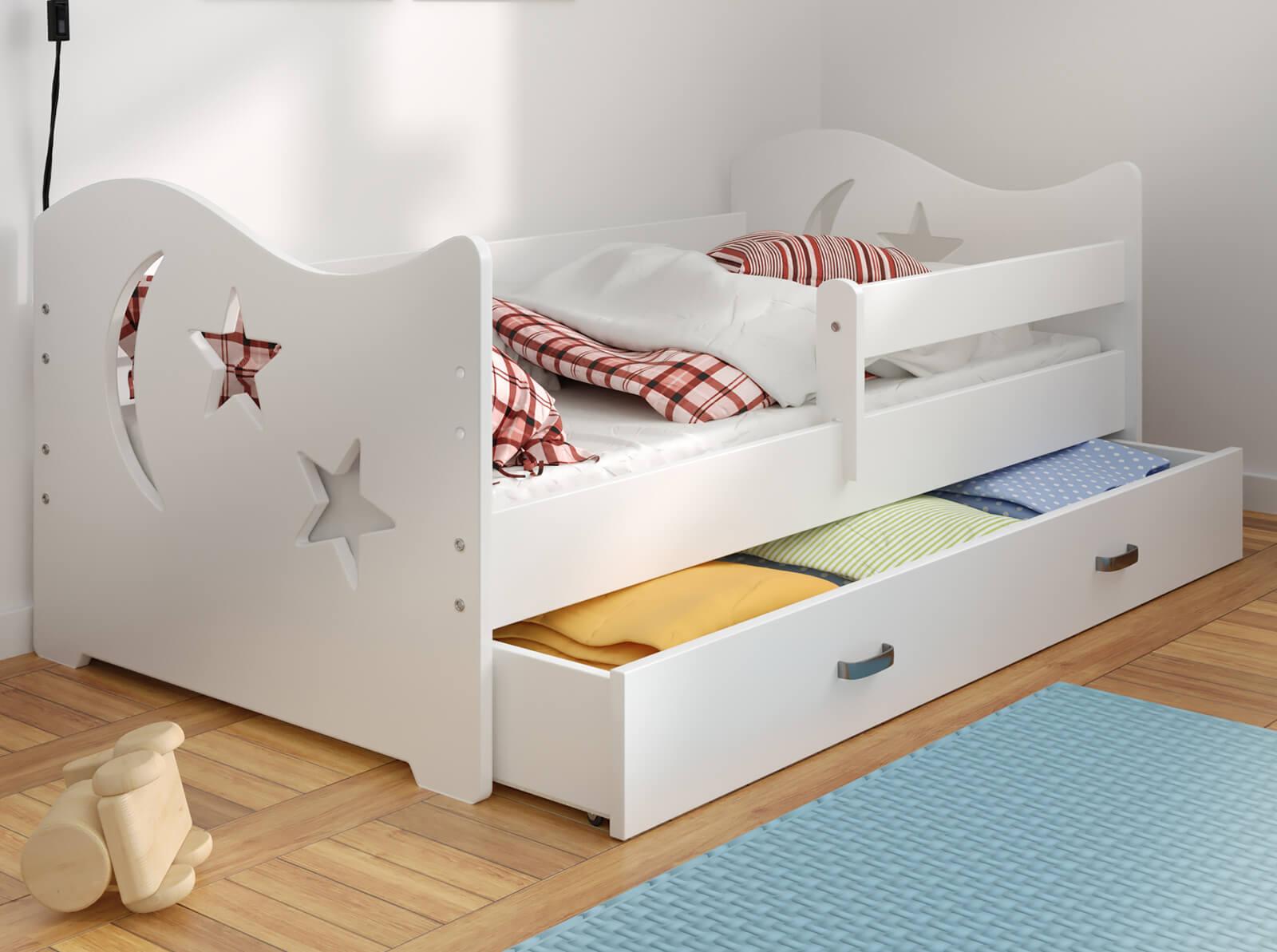Łóżko dziecięce Miki 160X80 B1 księżyc i gwiazdki