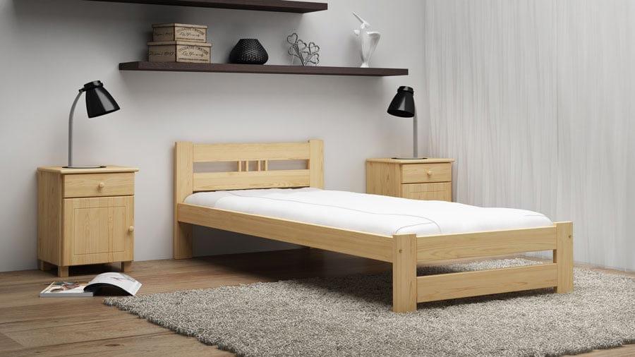 Wszystkie nowe Łóżko ekologiczne drewniane Oliwia 80x200 nielakierowane - cena BP95