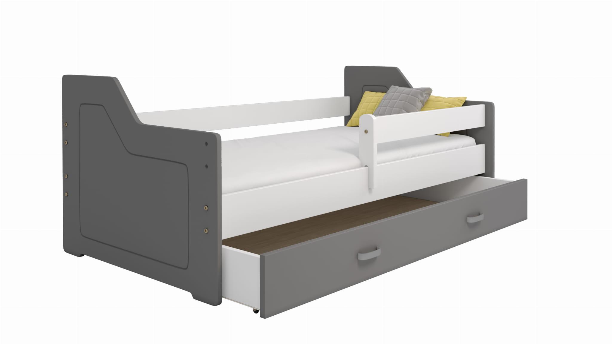 łóżko Dziecięce Miki 160x80 B4 Z Kanciastymi Zagłówkami
